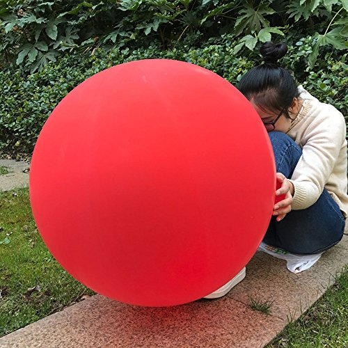 GuassLee 5 Giant Balloon 36 Inch Round Latex Big Balloon Large Thick Balloons for Photo Shoot/Birthday/Wedding Party/Festival/Event/Carnival Decorations Red