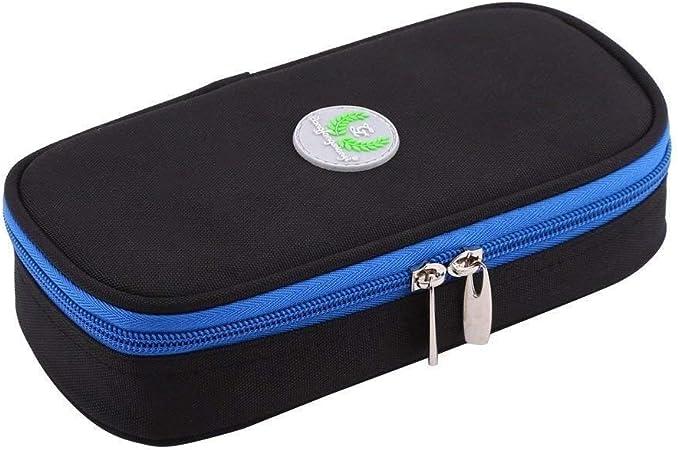 Organizador de Viaje Bolsa de Enfriador de Insulina portátil Organizador Diabético Estuche de Cuidado Médico Viajando Camping Jeringas Bolsa de Almacenamiento (Color : Negro): Amazon.es: Hogar