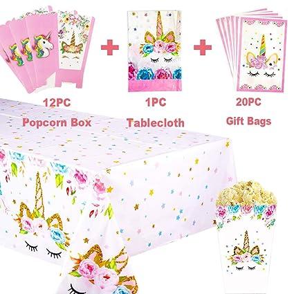 Amazon.com: Unicorn Party Favors Supplies – Mantel de ...