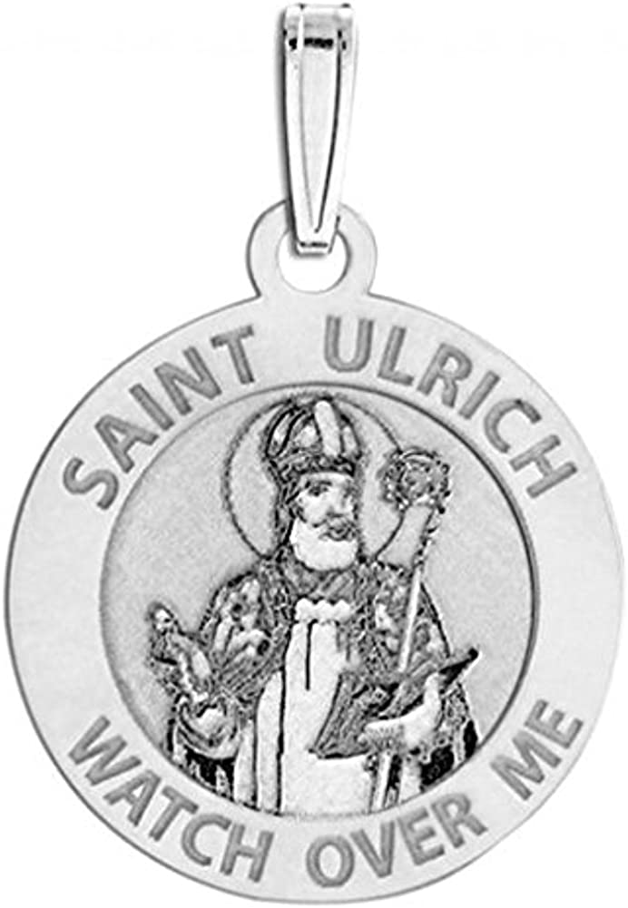 Sterling Silver 3//4 Inch Size of a Nickel PicturesOnGold.com Saint Ulrich Religious Medal