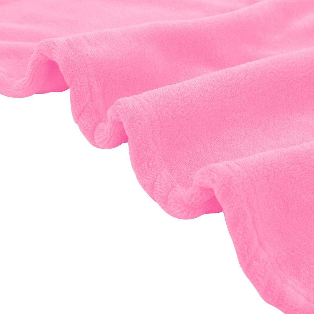 Wifehelper /Épaisse Flannelle Chaude Doux Int/érieur Ext/érieur Ray/é Throw Couverture Lit Couverture Douce Long Shaggy pour Canap/é Chaise De Lit Rose