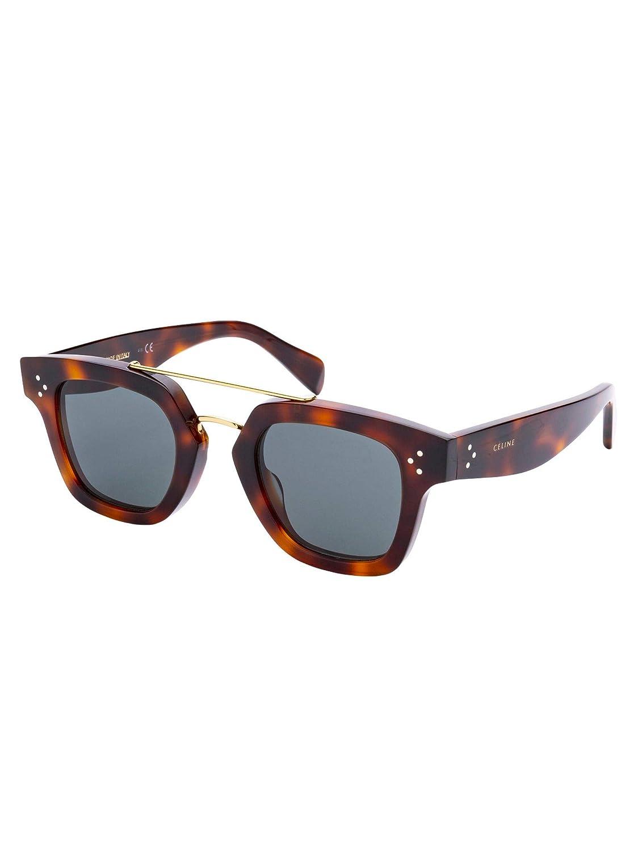 Céline Mujer Cl40024us53 Marrón Acetato Gafas De Sol: Amazon ...