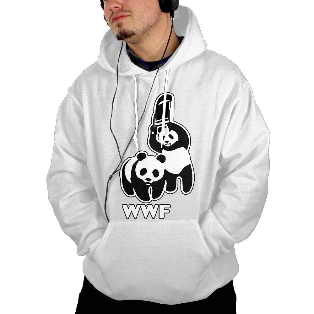 Okb-7 Men's Hooded Sweatshirt With Pockets WWF Funny Panda Bear Wrestling Sport Outwear Jackets by Okb-7