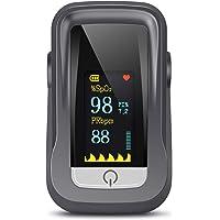 Oxímetro de Pulso, Pulsioximetro de Dedo Profesional con Pantalla TFT que Medición y Lectura Instantánea de SpO2, PR…