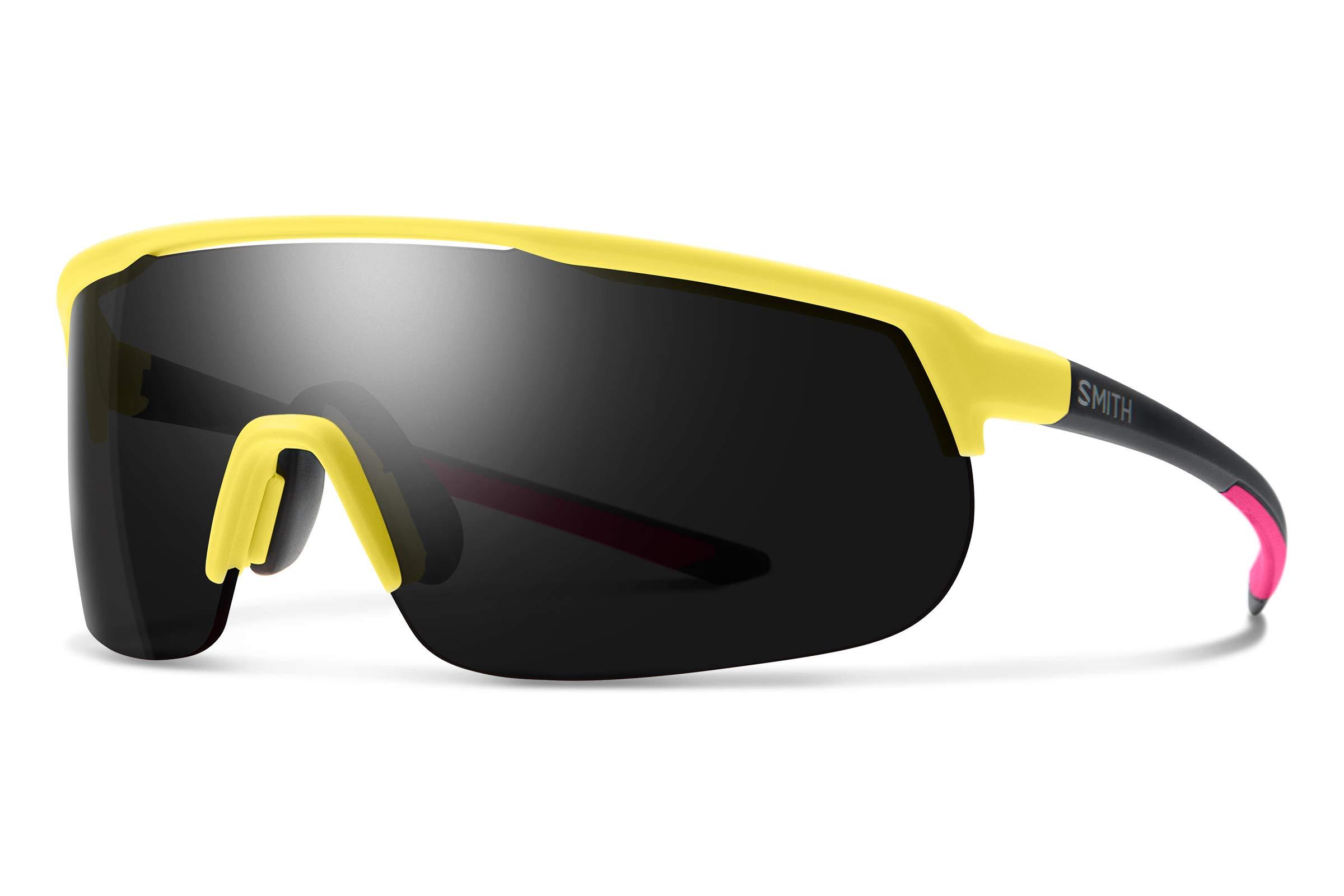 Smith Track Stand Chromapop Sunglasses, Matte Citron, Chromapop Sun Black/Contrast Rose