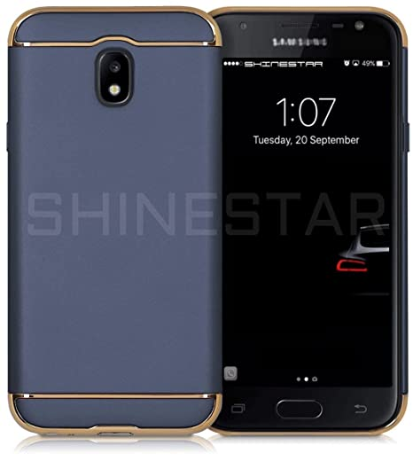 premium selection 1fe13 c0228 SHINESTAR Samsung J7 Pro Case *3-in-1 Dual Layer Thin Back Cover Case for  Samsung Galaxy J7 Pro (Blue)