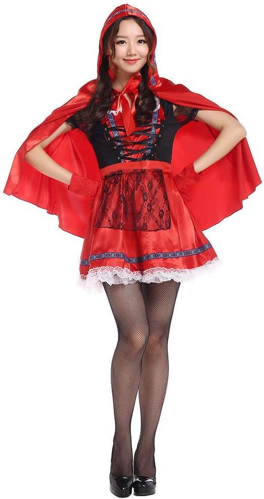 QAR Disfraz De Caperucita Roja para Mujer Disfraz De Caperucita ...