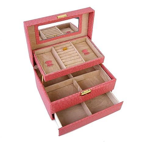 Caja de Joyas de Mujer, Patrón de cocodrilo Caja de joyería ...
