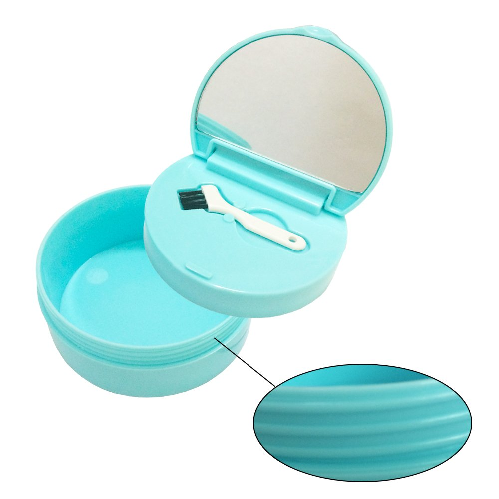 KNONGMAYI Easy Carry Waterproof Invisalign Retainer Denture Bath Appliance Denture Case by KNONGMAYI (Image #3)