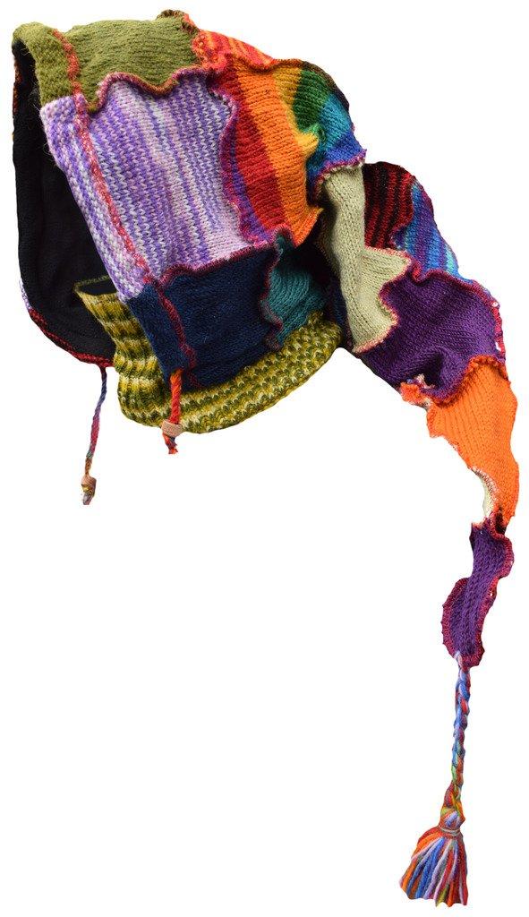 Little Kathmandu Woolen Fleece Lined Pixie Pointed Long Snood Hood Neckwarmer Hat