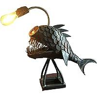 Angler Fish Lamp,Handgemaakte Verstelbare USB Tafellamp LED Licht voor Thuis, Bar, Restaurant, Cafe (S)