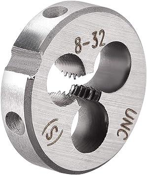uxcell 10#-24 UNC Round Die Machine Thread Die 6G Accuracy Class 0.8 OD Round Threading Die Tool Steel 2pcs