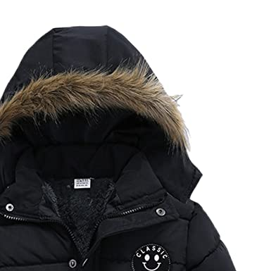 Zerototens Boys Jacket,1-5 Years Old Toddler Baby Boys Girls Long Sleeve Letter Print Hooded Coat Winter Thick Warm Padded Jacket Outdoor Active Windbreaker Outwear