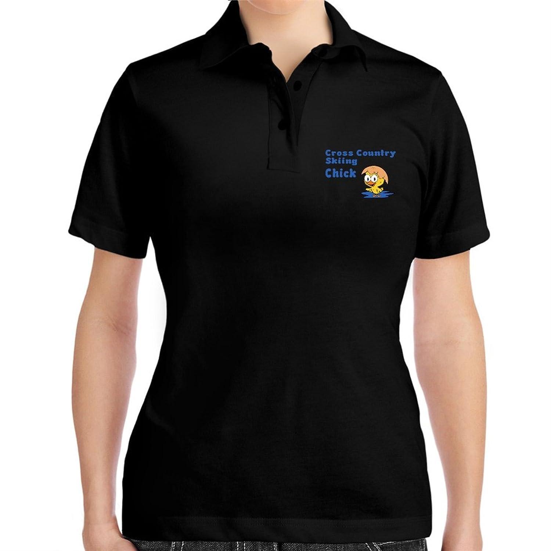 Cross Country Skiing chick Women Polo Shirt