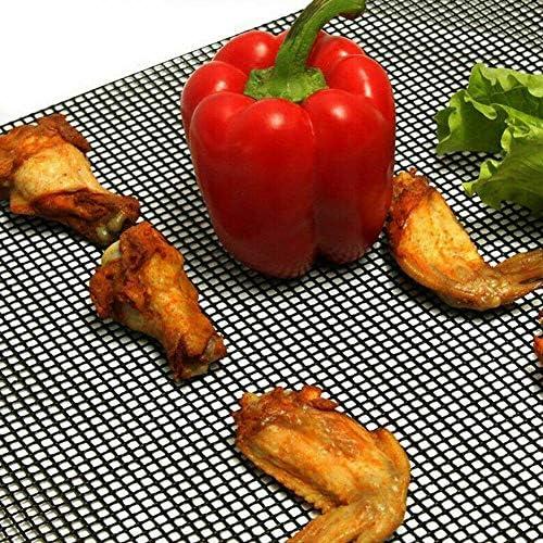 Aexit Tapis de Barbecue Tapis de Cuisson Grill, Tapis de Grill Antiadhésif BBQ Feuilles de Cuisson Réutilisable et Résistant pour Barbecue 3Pcs