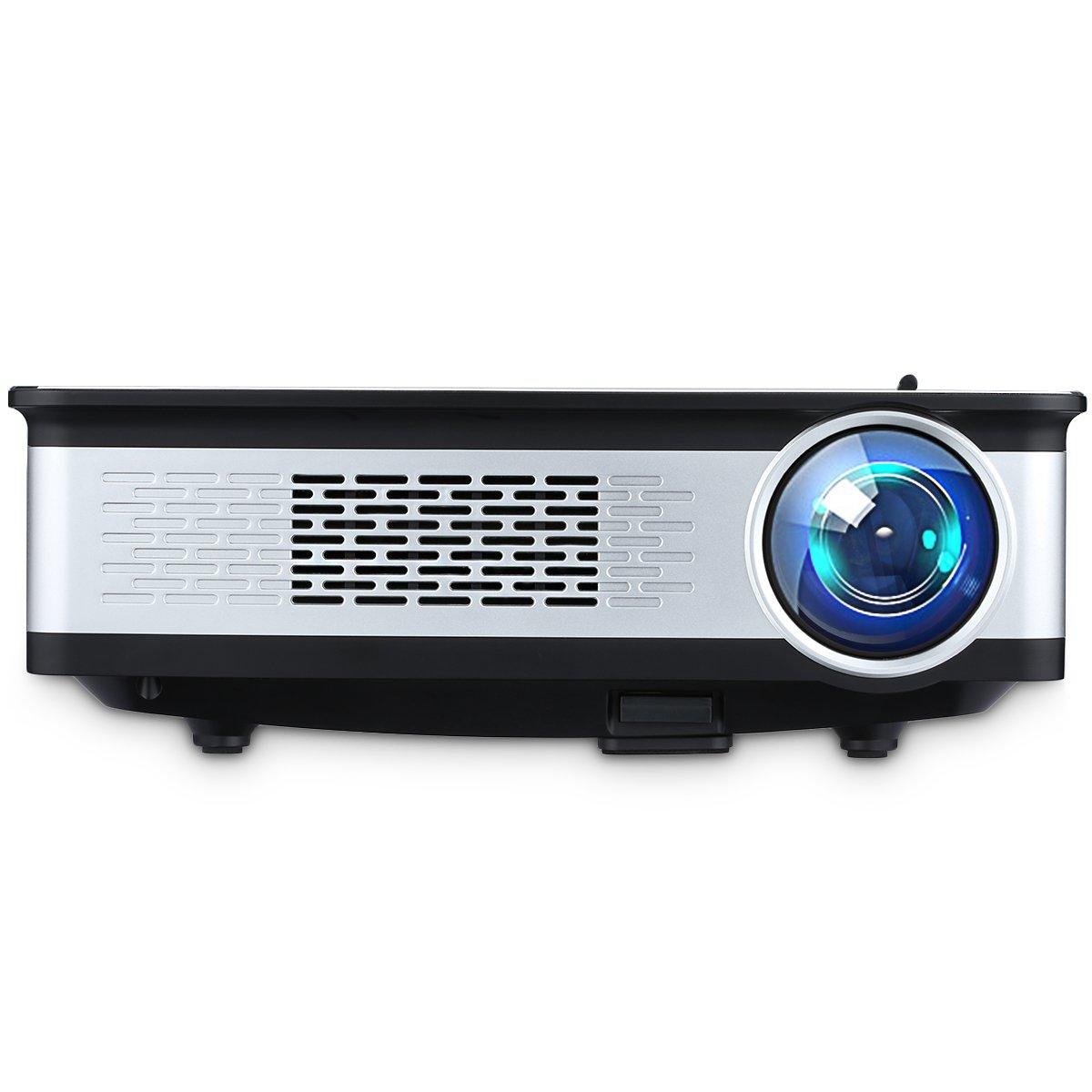 Excelvan 3300 Lumens Beamer 1080p 720p Multimedia Projektor Native 1280 * 768 Pixels mit HDMI, VGA, 2*USB, AV Schnitstelle, für Heimkino, Spiel, Outdoor, 5.8 Zoll (Z720) für Heimkino 2018031411