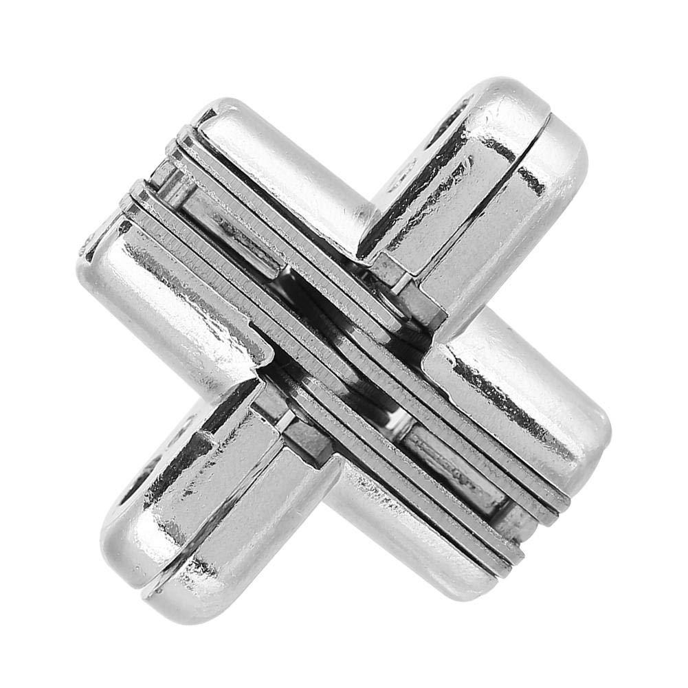 180 grados aleaci/ón de zinc Bisagras ocultas Bisagra invisible oculta de la puerta cruzada F/ácil instalaci/ón Muebles Gabinete Kit Small