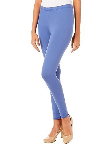 d5769d8982a37d Hot Kiss Juniors Classic Solid Leggings One Size Periwinkle Blue