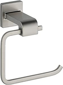 Delta Faucet 77550-SS Ara Toilet Paper Holder, Single Post, Brilliance Stainless Steel