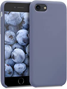 kwmobile TPU Silicone Case Compatible with Apple iPhone 7/8 / SE (2020) - Soft Flexible Rubber Protective Cover - Lavender Grey