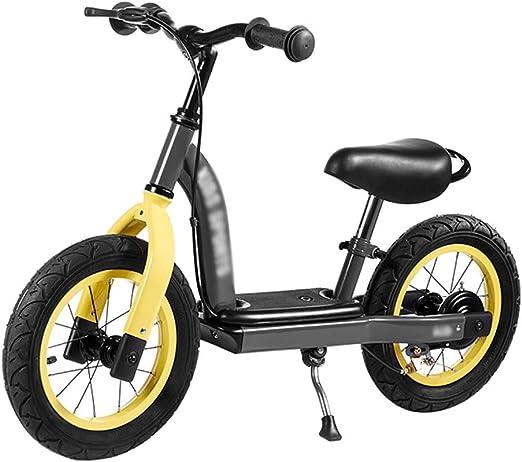 YJFENG-bicicleta de equilibrio Bicicleta Sin Pedales Altura Ajustable Juguetes De Los Niños Aprendiendo A Andar En Bicicleta Fácil De Poner Y Quitar,2 Colores (Color : Yellow, Size : 90x51cm): Amazon.es: Hogar