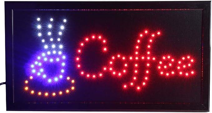 Amazon.com: Chenxi animado café 18.9 x 9.8 inch LED luz de ...