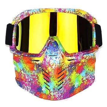 ZATMTJDSB Gafas de esquí para esquís, Motos de Nieve, Gafas de ...