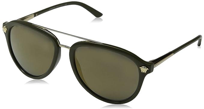 Versace 0VE4341 Gafas de Sol, Military Green, 57 para Hombre ...