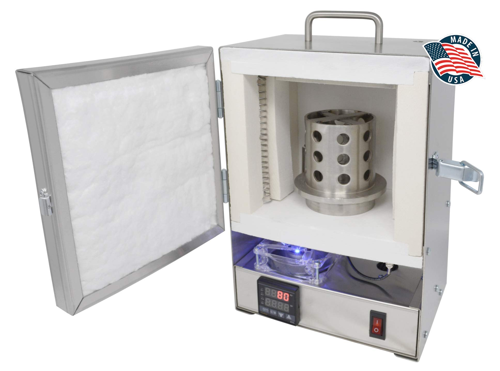 Tabletop Hi-Temp 2200 Degree Electric Burnout Oven Kiln Vent Hole PROGRAMMABLE Controller Furnace Jewelry Making Dental Cast Wax 3D Resin PLA Burnout Made in The U.S.A.