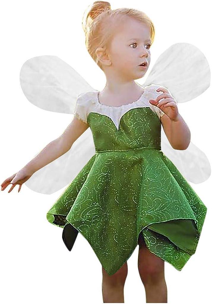 Niña Vestido De Duende Verde con Alas Transparentes Vestido De ...