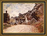 "The Hamlet of Chantemesie at the Foot of the Rock by Claude Monet - 20"" x 27"" Framed Canvas Art Print - Ready to Hang"