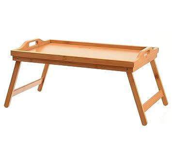 Home-it bandeja de cama mesa con patas plegables, y bandeja de desayuno de