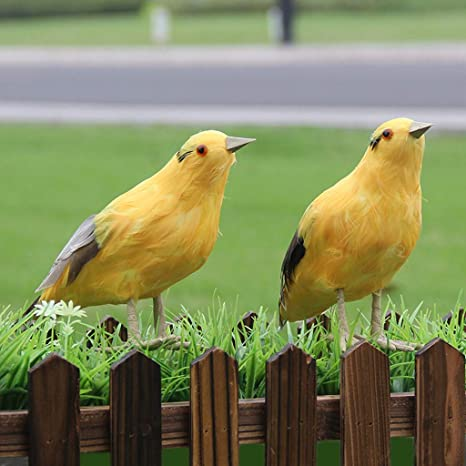 M Kvfa Artificial Orioles Fake Feather Foam Birds Wedding Family Decor Venue Statue Ornament Hanging Decorations For Displays Crafting Beach 2x Home Kitchen