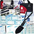 First Aid Kit Refill for Car Home Camping Travel Office Sports Gardening Mud & Snow - Military Folding Shovel Survival Multitool Tools Box - 25 Items by deftget