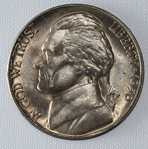 1950 D Jefferson Nickel Brilliant Uncirculated Nickel BU US Mint (Uncirculated Nice Coin)
