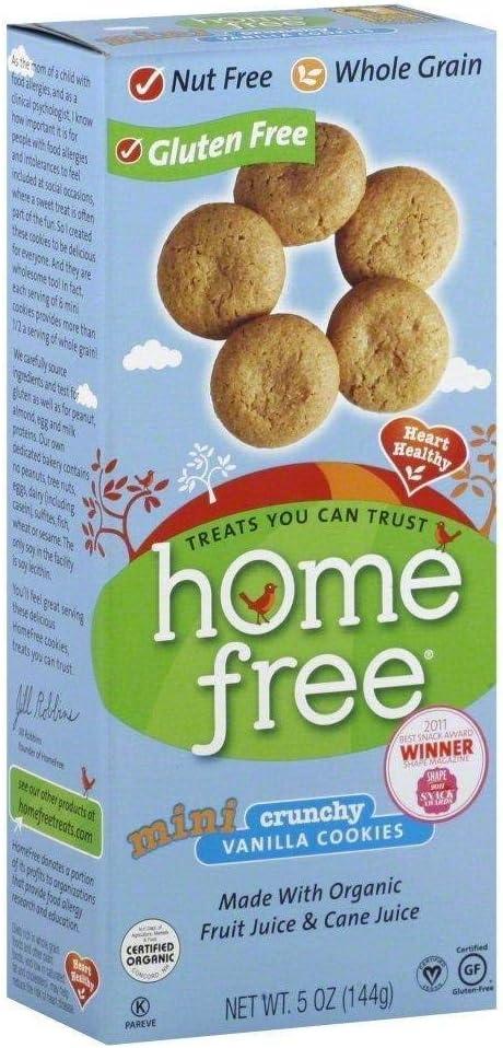 Mini Vanilla Cookies Gluten Free 5 Ounces (Case of 6)