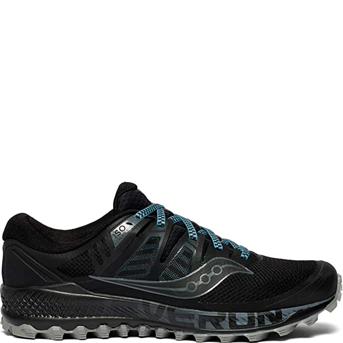 Saucony Mens S20483-1 Low Top Lace Up Running Sneaker, Black/Grey, Size 11.5