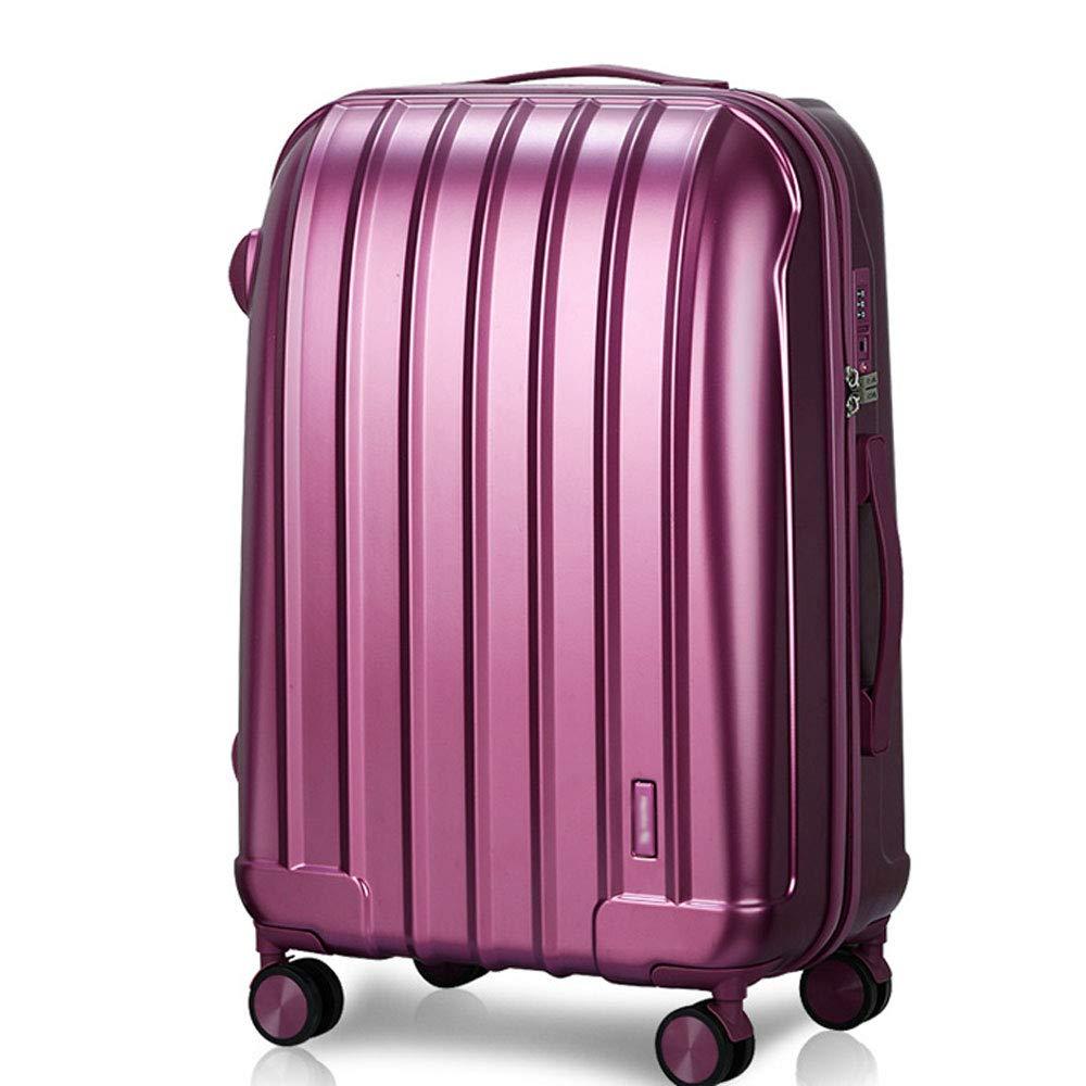 YD スーツケース トロリーケース - ポリエステル/PC、二重圧縮、つや消しマット、カラフルなファッションシェル科学部門ユニバーサルホイールTSAロックボックス - 2色2サイズ。 /& (色 : Purple, サイズ さいず : 43*27*61cm) B07MW18P94 Purple 43*27*61cm
