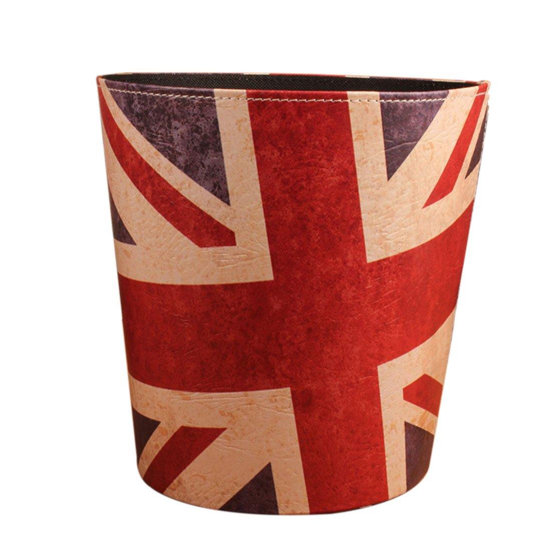 Wastebasket Trash Can for Bedroom Bathroom Kitchen Office Recycling Garbage Bin - Union Jack Flag Pattern