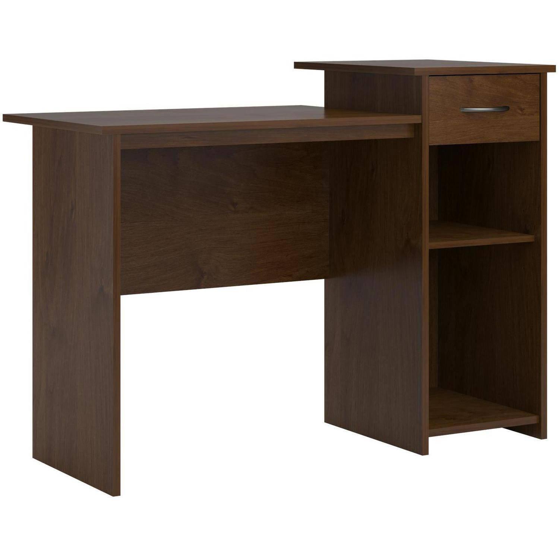 Adjustable Shelf and Easy-Glide Accessories Drawer Student Desk in North-field Alder