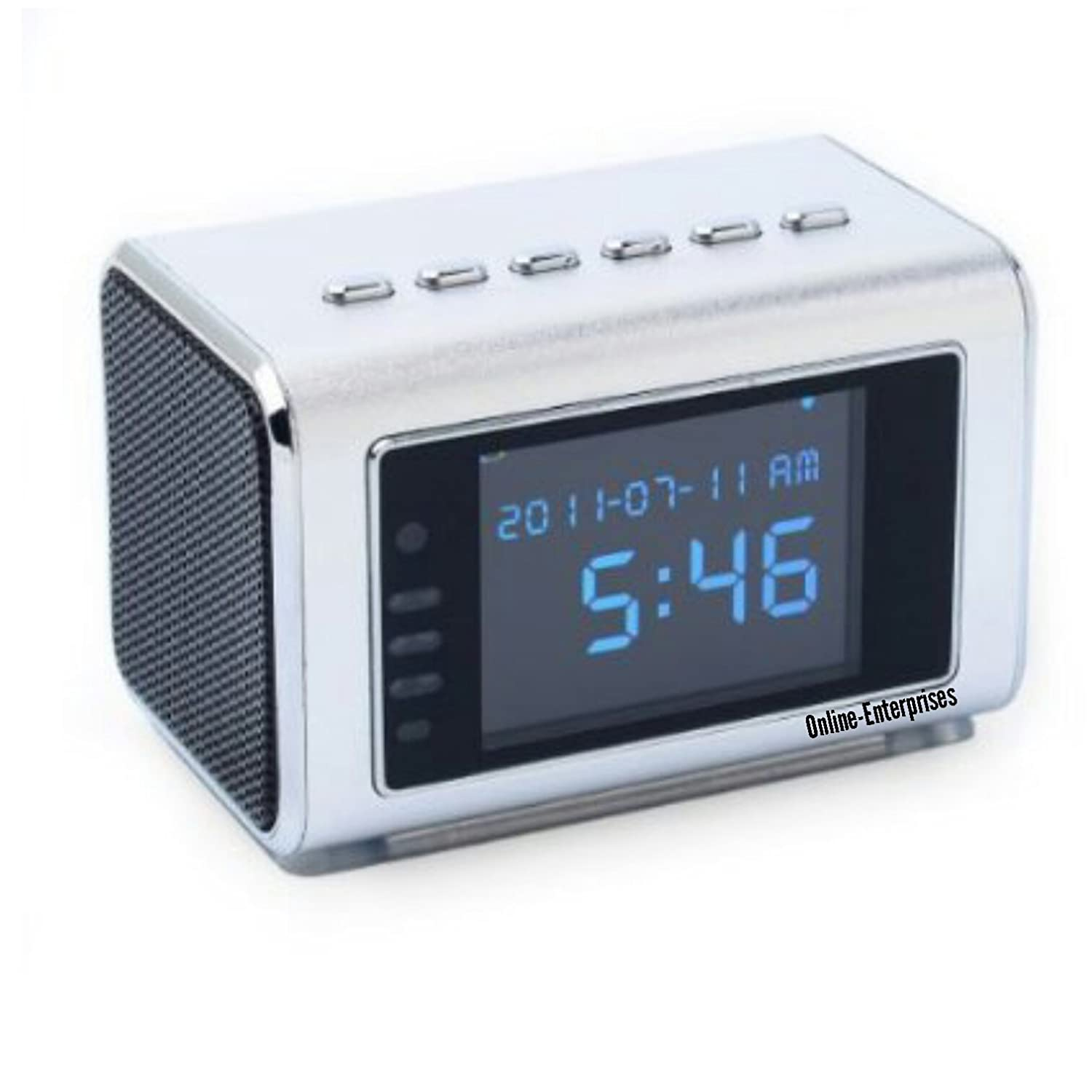 Top Secret Spy Camera Mini Clock Radio Hidden Dvr Http Wwwschematicdiagramcom Electronicdigitalclockhtml Continuous Power Or Battery Nanny Cam Photo