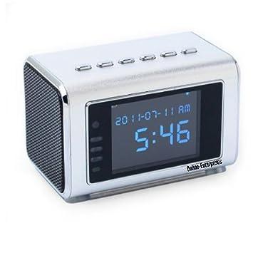 Amazon.com : TOP Secret Spy Camera Mini Clock Radio Hidden DVR ...