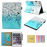 iPad Air 2 Case, New iPad 2017 Case, iPad 9.7 2018 Case, Dluggs PU Leather Folio Smart Case Cover with Auto Sleep/Wake Function for Apple iPad 9.7 2017/2018 Model/iPad Air 1 2, Smile