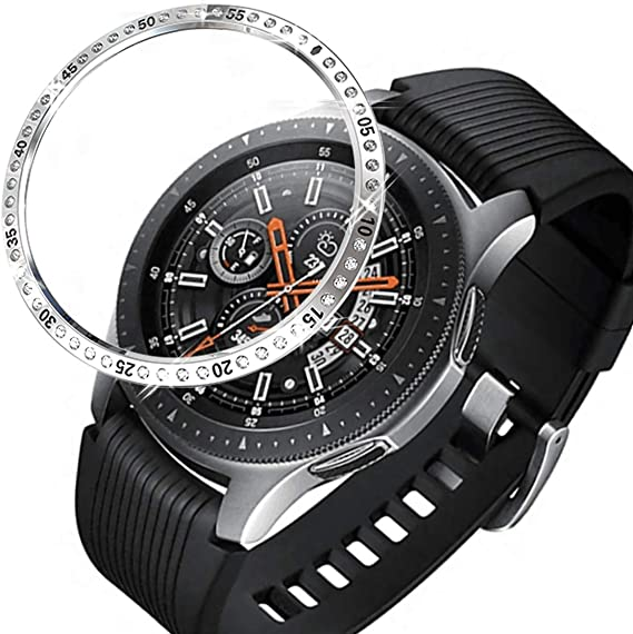 Haojavo Bezel Styling for Galaxy Watch 46mm / Galaxy Gear S3 Frontier & Classic Bezel Ring with Diamonds Adhesive Cover Anti Scratch Stainless Steel ...