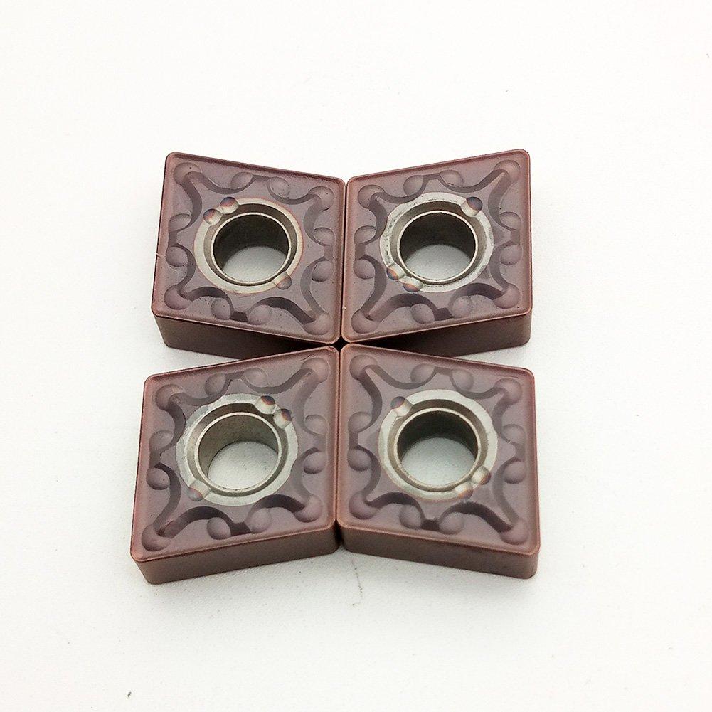 10 pezzi CNMG432MA VP15TF//CNMG120408-MA VP15TF lama per lavorazione in acciaio inox e ghisa alta resistenza elevata resistenza