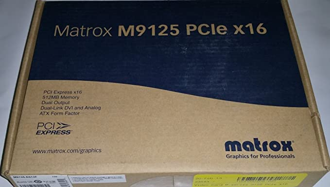Matrox M9125 PCIe x16 Windows 8