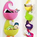 4 Pcs Colorful Multi-Purpose Hanging Basket, Agile-shop Multilayer Superposition Wall-hanging Eco-friendly Plastic Receive Storage Basket