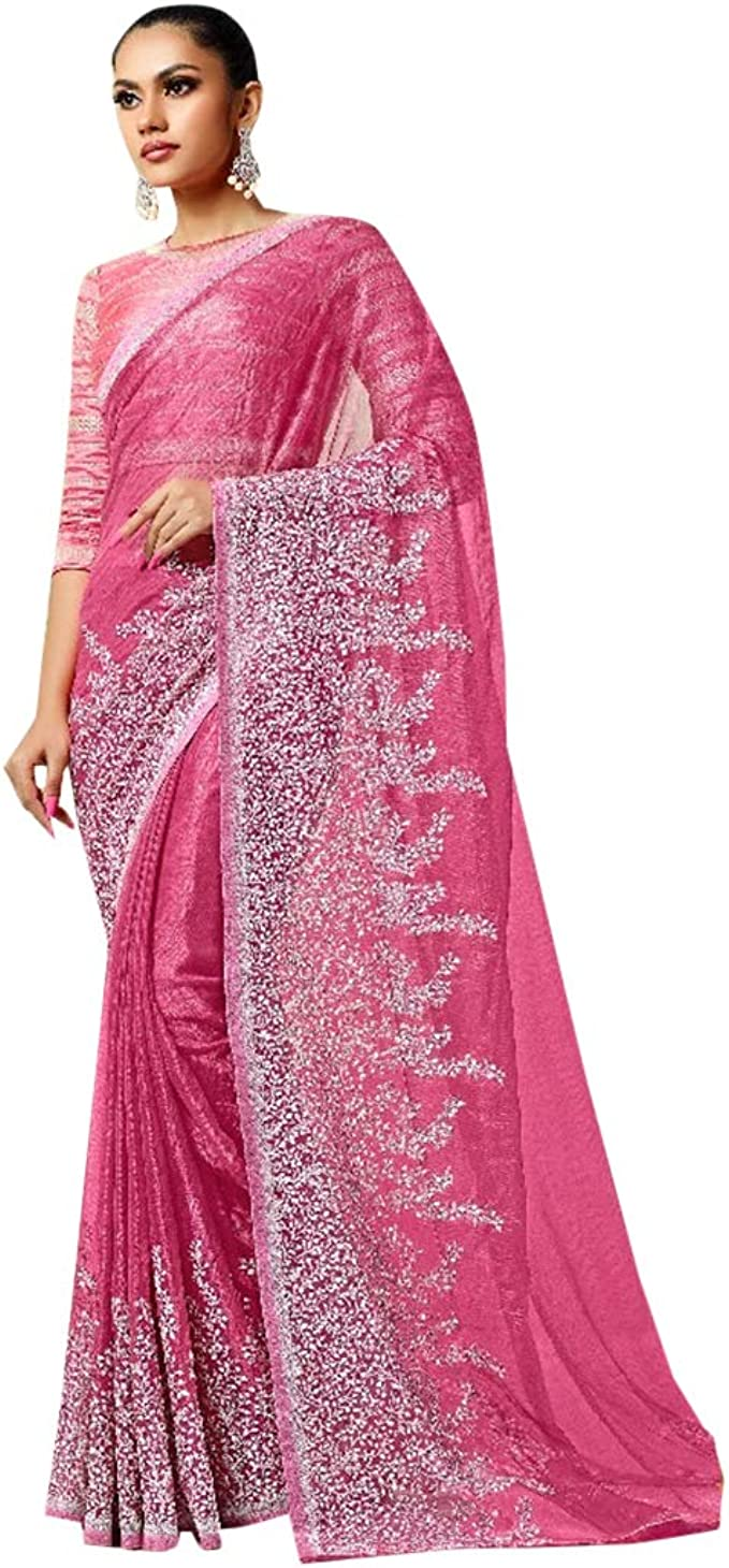 Designer-Abendkleid 20% reines natürliches Gewebe Sari mit