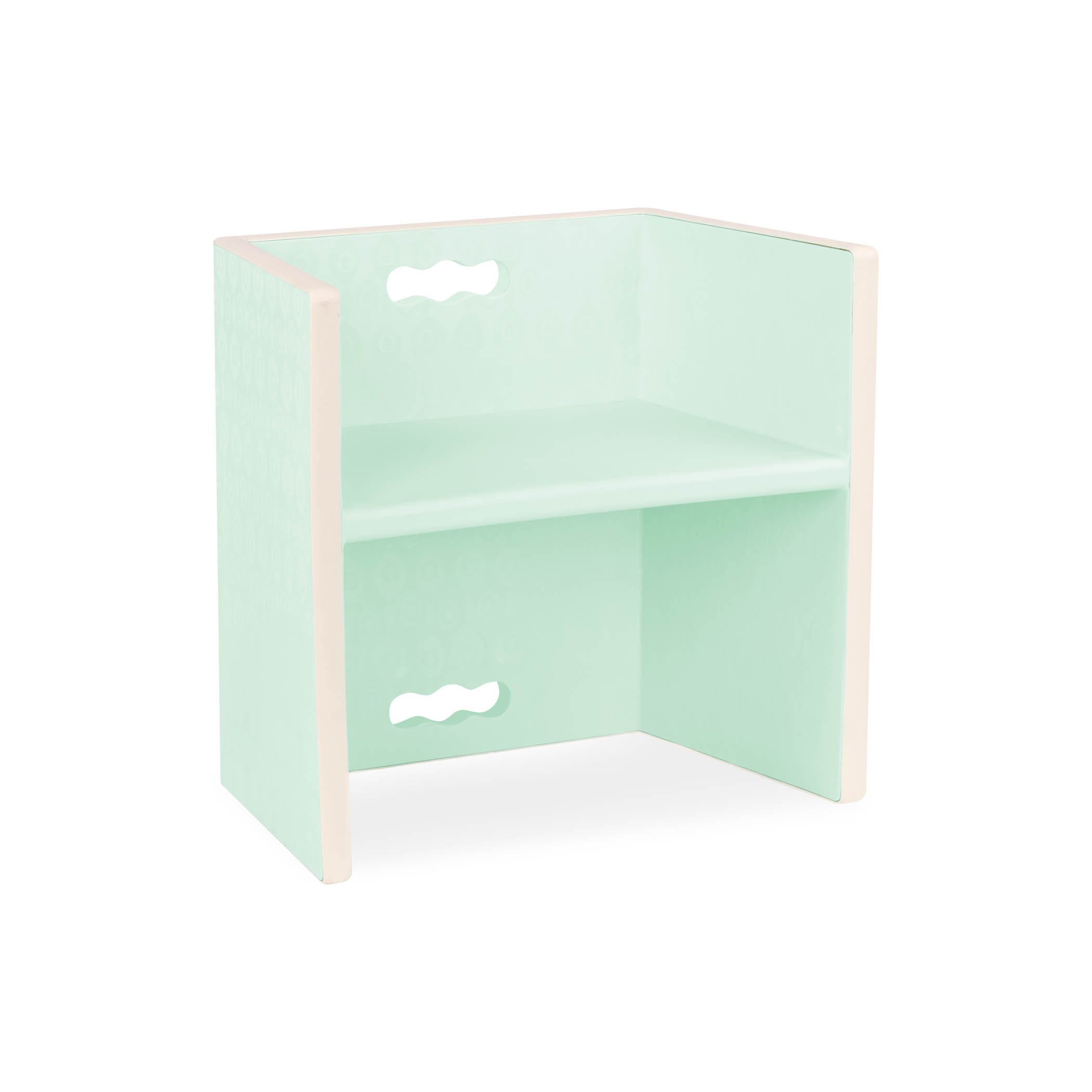 B. spaces by Battat – Chair Stair 3 in 1 – Toddler Chair and Step Stool Kids Furniture – Trendy Soft Mint