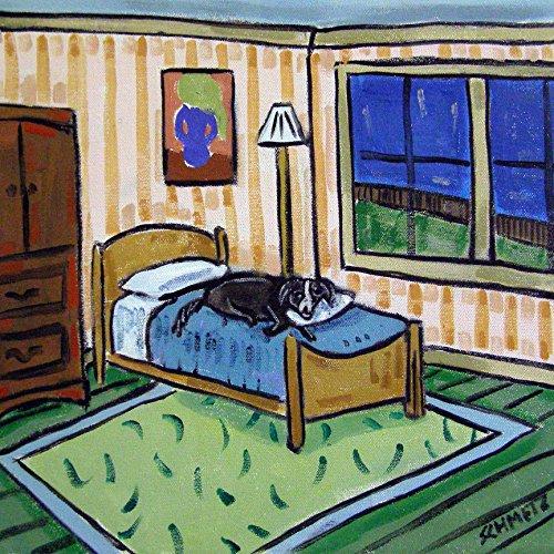 - Border Collie Sleeping bedroom Decor dog art tile coaster gift